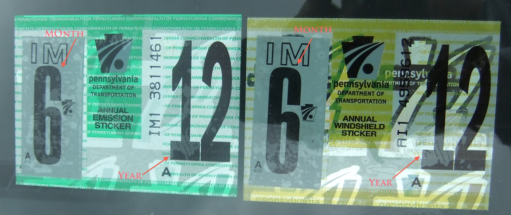 2012 Virginia State Inspection Sticker http://philapark.org/2012/01/inspection-sticker-dilemma/
