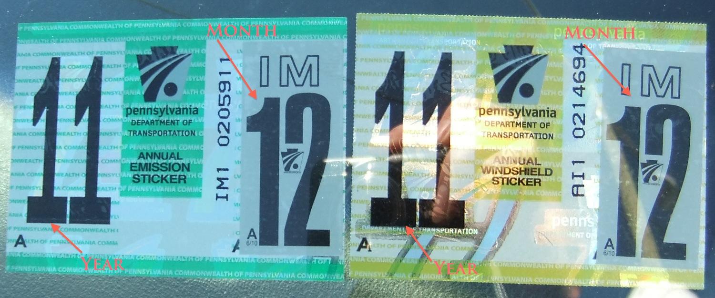 Car sticker inspection - Inspection Sticker Dilemma